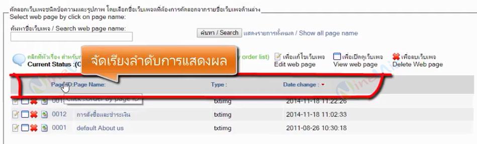 คู่มือเว็บไซต์สำเร็จรูป ninenic - คัดลอกเว็บเพจ