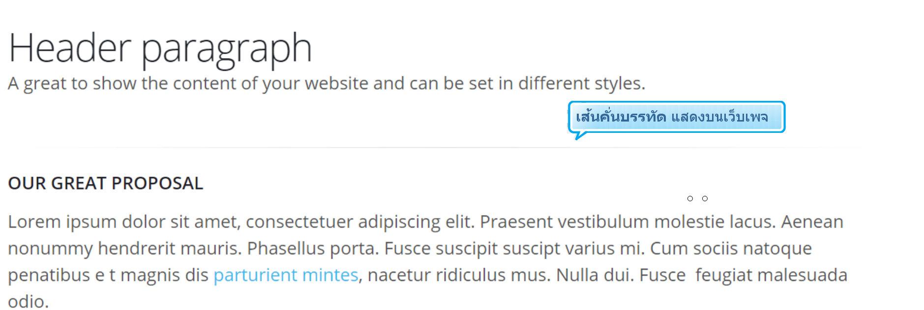 คู่มือเว็บไซต์สำเร็จรูป ninenic - webeditor : แทรกเส้นคั่นบรรทัด หรือ <hr>