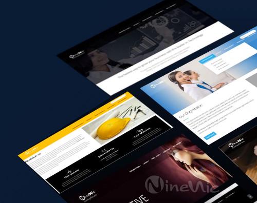 เว็บไซต์สำเร็จรูป ninenic ออกแบบ-เลือก-website-template
