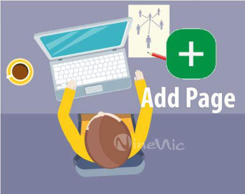 เว็บไซต์สำเร็จรูป ninenic : เพิ่มเว็บเพจ add page