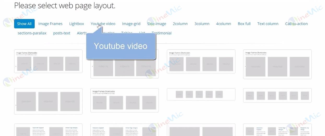 คู่มือเว็บไซต์สำเร็จรูป ninenic - การการใส่ youtube video